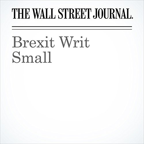 Brexit Writ Small copertina