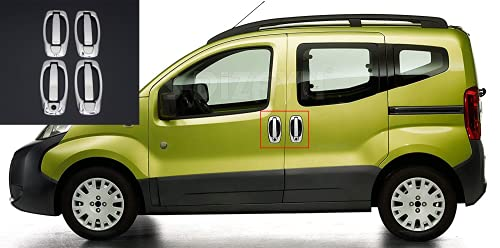 Para Bipper/Nemo/Fiorino/Qubo/Doblo II/Combo D 2008+cromo puerta manija llanta+cubierta acero inoxidable 4 puertas 8 piezas