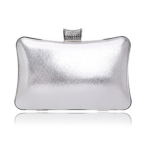 Golden Luxury Women Evening Bags Pequeño día Diamantes Diamantes Hombro Bolsos de Hombro Fiesta Body Bolso Rhinestones (Color : YM1092silver, tamaño : Mini)