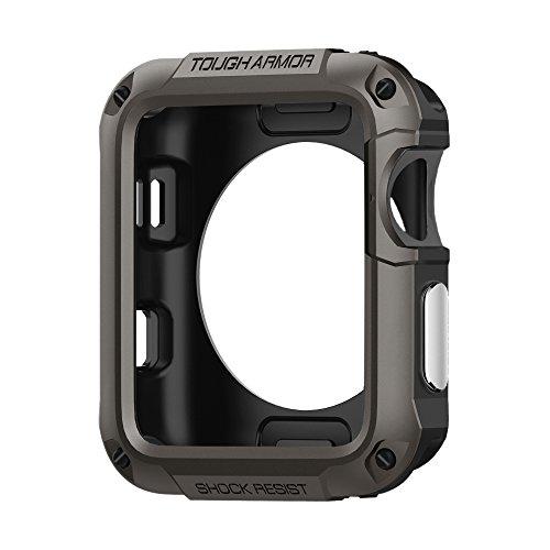Spigen Tough Armor Compatible avec Apple Watch Coque pour 42mm Series 3 / Series 2 / Series 1 - Gunmetal