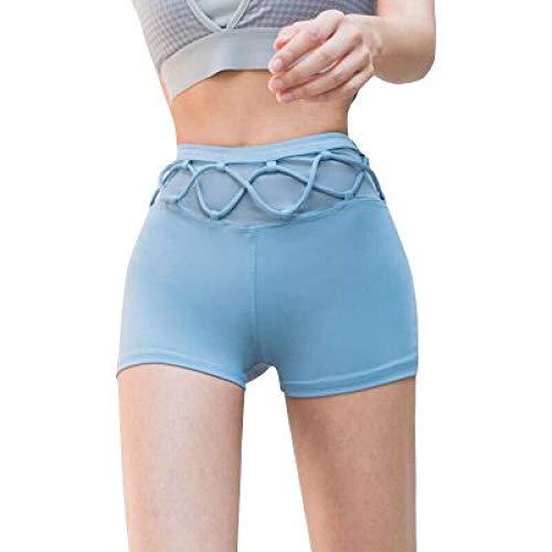 Corumly Pantalones Cortos para Mujer Yoga Deportes Correr Pantalones Cortos Deportivos Pantalones Cortos Informales de Tendencia de diseño de Personalidad Ajustados XL