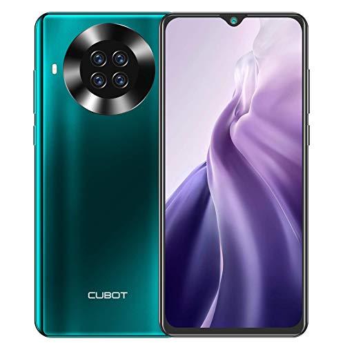 Cubot Note 20 Pro - Smartphone de 6.5' HD+, 8GB y 128GB, Cámara Cuádruple de 20 MP, Batería de 4200mAh, Android 10, Procesador Helio P60, Color Verde