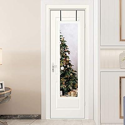 ZHUIDU HOME Full Length Mirror 14x48 Inch, Door Mirror for Bedroom, Fashion Aluminum Alloy Mirror Full Length, Wall Mirrors Thin Frame for Home Decor Hanging Bathroom Rectangle Dressing, White
