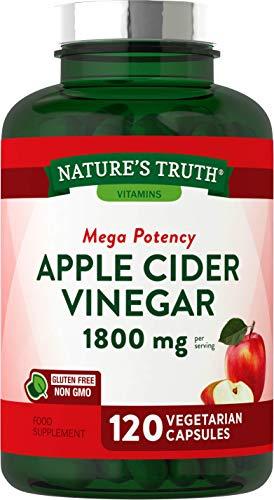 Apple Cider Vinegar 1800mg | 120 Vegan Capsules | High Strength, Keto Diet Friendly | Non-GMO, Gluten Free Supplement