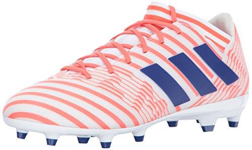 adidas Women's Nemeziz 17.3 FG W Soccer Shoe, White/Mystery Ink/Easy Coral, 5.5 Medium US
