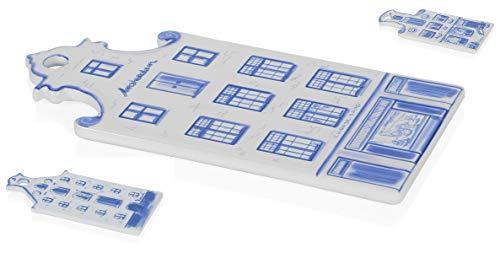 BOSKA Holland Delft - Tabla de quesos (cerámica, 33 x 16 x 2 cm), Color Blanco y Azul