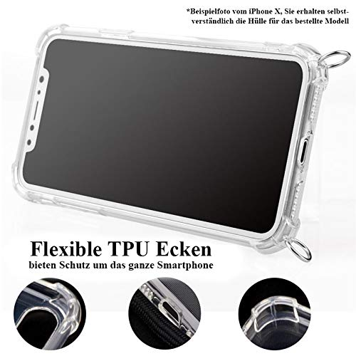 tradespeople Handykette geeignet für Huawei Mate 20   Smartphone Necklace Hülle mit Band   Schnur Kordel mit Case zum Umhängen   schwarz - 2