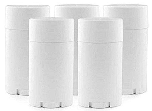 Hustar 15 ml Contenant Support Plastique Vide Rechargeable Déodorant Baume à Lèvres Tubes Brillant à Lèvres, blanc, Lot de 5