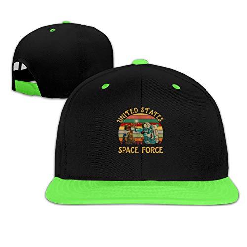 Gorra de béisbol vintage de los Estados Unidos para niños y niñas - verde - talla única