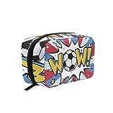 Bolsa de maquillaje Wow para pelota de fútbol, bolsa de cosméticos de viaje, bolsa de aseo portátil para mujeres y niñas