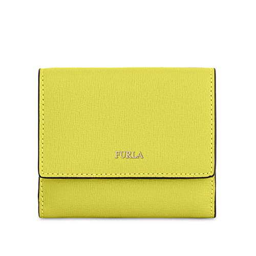 Furla Babylon Damen Geldbörse Bi-Fold S Gelb lindgrün one Size