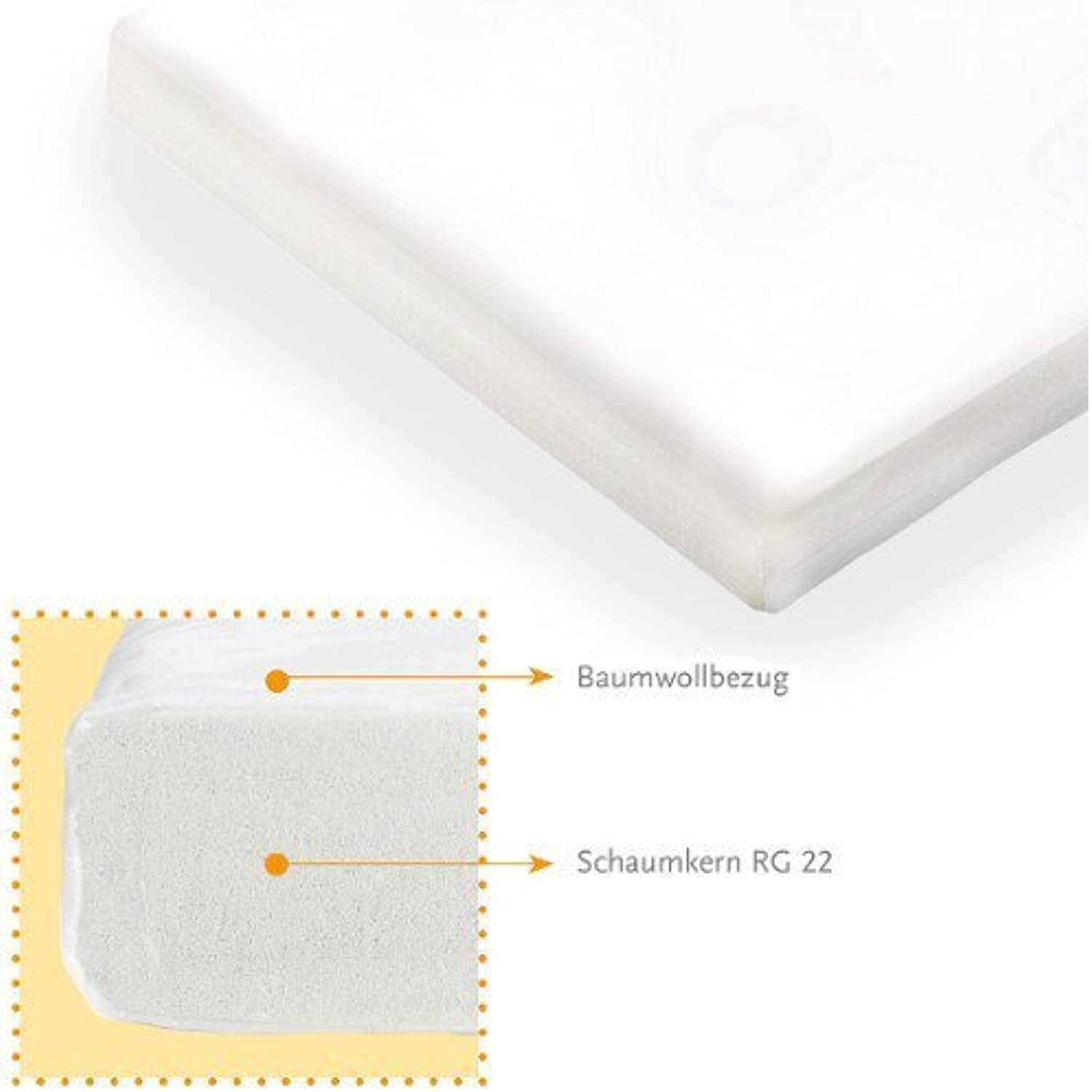 Classic Standard Baby Bed Junior Bed Mattress, 140x70cm, Suitable for Allergy Sufferers, mittelfester Foam Core