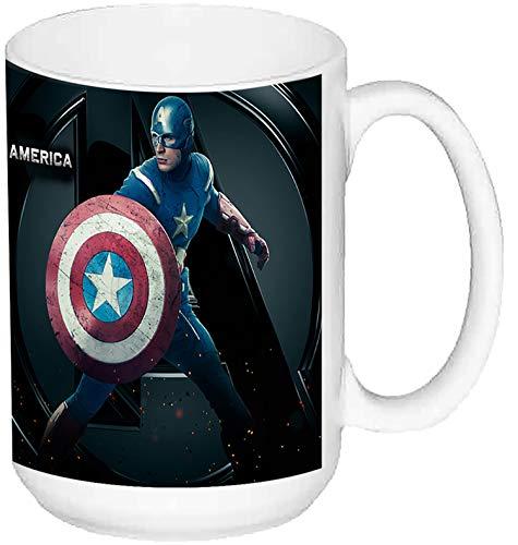 MasTazas Capitan America Captain America Chris Evans B Taza Grande Ceramica 15 oz ≈ 443 ml
