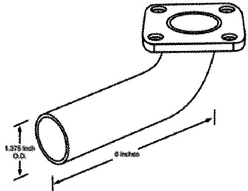 Cummins (onan Generators) Exhaust Elbow A026e098