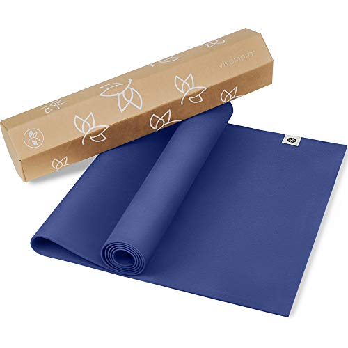 Natural Rubber Yoga Mat Version 2 - Eco Yoga Mat - Newly Improved Non Slip Pattern - Reversible Natural Rubber - Includes Carrying Strap - Yoga Mat 68 Inch - 4.5mm - All Types of Yoga