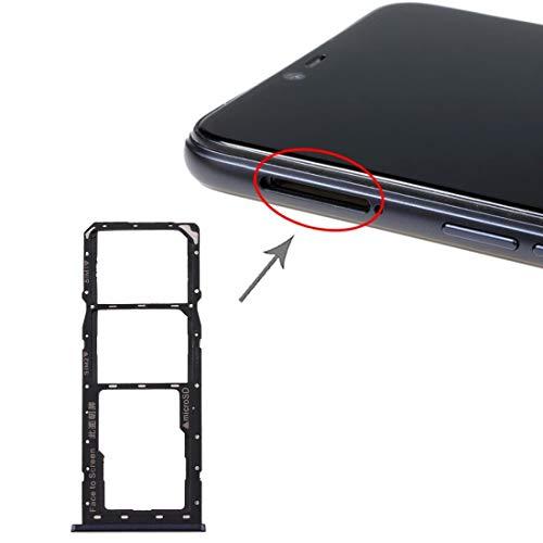 HDZ AYDD - Bandeja para tarjetas SIM + bandeja para tarjetas SIM + bandeja para tarjetas Micro SD para Realme 2 (color negro)