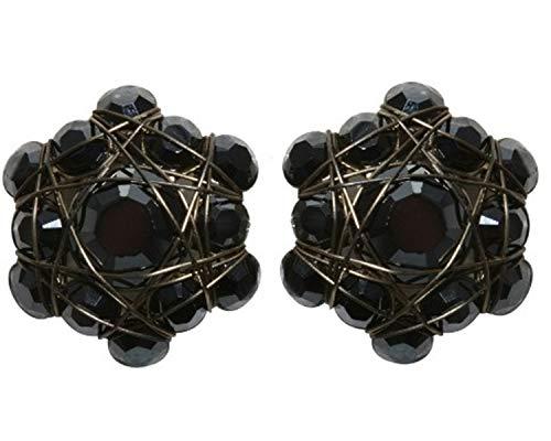 Ohrringe Konplott Bended Lights Schwarz | Ohr-Schmuck mit Glitzer-Steinen | Ohr-Stecker für Damen in verschiedenen Farben | Konplott - Einzigartiger Modeschmuck mit Swarovski Elements