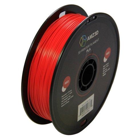 1.75mm roter PLA 3D Drucker Filament - 1kg Spule (2.2 lbs) - Maßgenauigkeit +/- 0.03mm