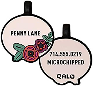 QALO Custom Silicone Dog ID Tags - Show Off Your Dogs Personality - 12 Silent Unique Designs