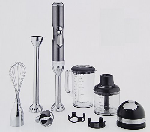 KitchenAid KHB3581SR Pro Line 5 Speed Hand Blender, Sugar Pearl Silver