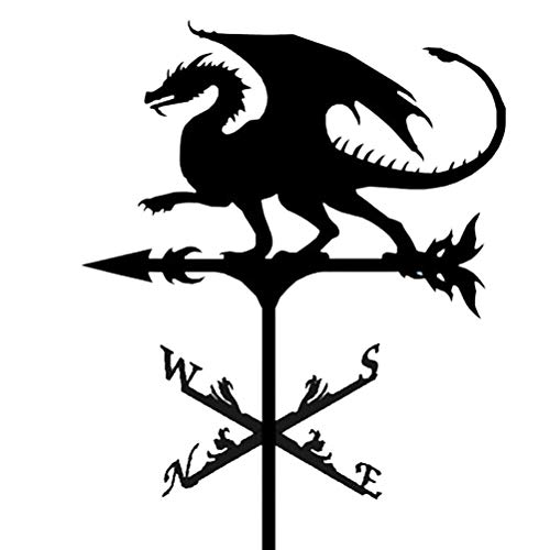 Yumira Retro Wetterfahne, Edelstahl Wetterhahn dekorative Wetterfahne Dekoration Ornament für Garten, Garage, Kuppel, Scheune und Pavillon