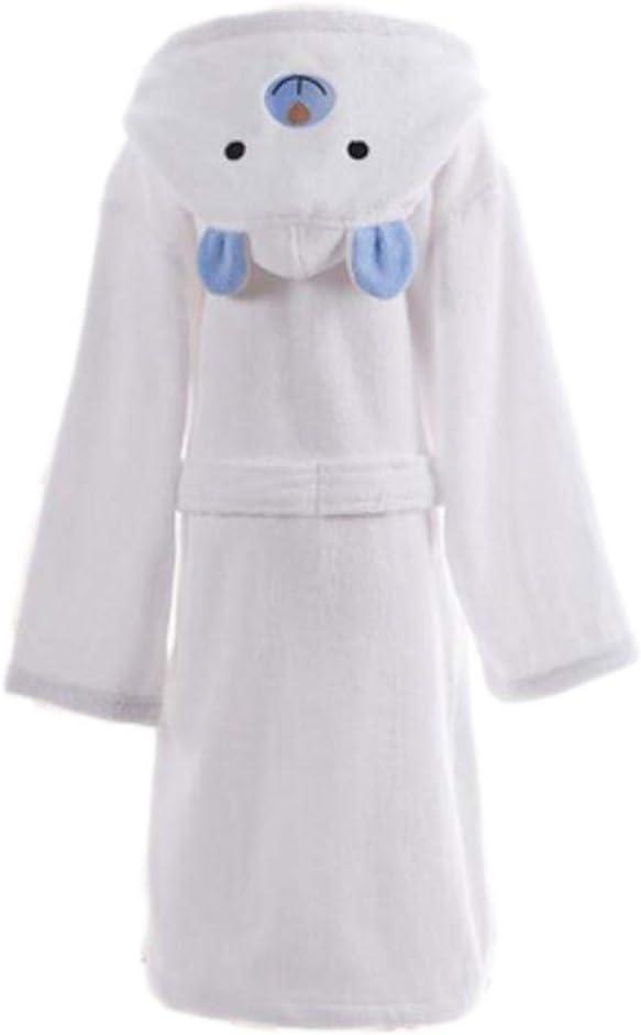 Azure Children Cotton Bathrobe Soft (White Bear Blue Ears)