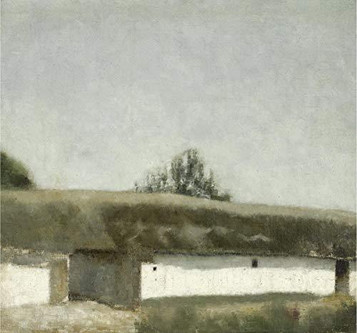 Berkin Arts Vilhelm Hammershoi Giclee Auf Papier drucken -Berühmte Gemälde Kunst Poster-Reproduktion Wand Dekoration(Landskab Med Bondegard Landschaft Mit Bauernhof) #XZZ