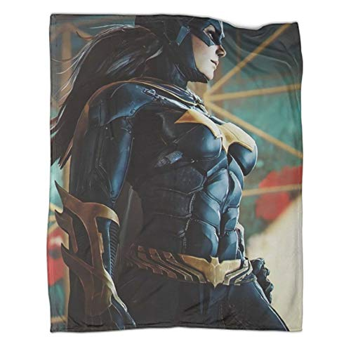 Xaviera Doherty Batwoman DC Superhero Comics Gotham Manta cómoda de felpa cálida de 80 x 100 cm, manta portátil regalo perfecto