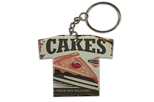 LEotiE SINCE 2004 Schlüsselanhänger Küche Kuchen Trikot bedruckt