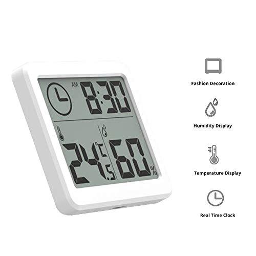 Smart-Thermostaat, multifunctionele thermometer, luchtvochtigheid, LCD-display, grote afmetingen, elektronische hygrometer.