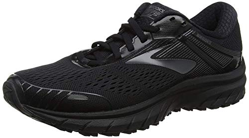 Brooks Mens Adrenaline GTS 18 Running Shoe Black/Black, 9.5