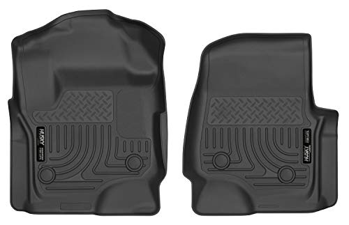 Husky Liners Fits 2017-19 Ford F-250/350 Crew Cab/SuperCab with Vinyl floors Weatherbeater Front Floor Mats