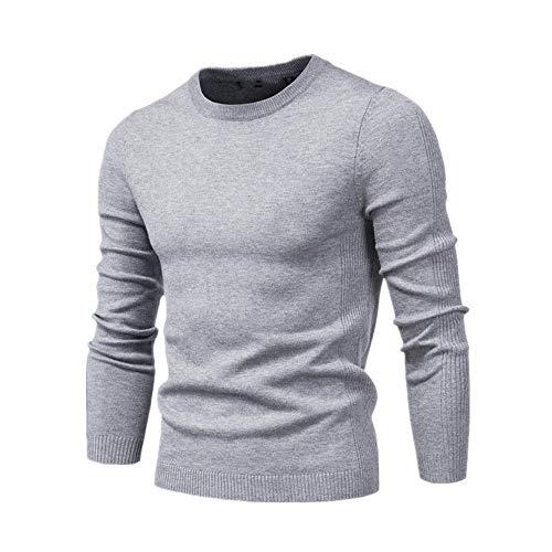 Casual Sólido Grueso De Lana De Algodón Suéter De Jerséis De Los Hombres Traje Delgado De O-Cuello Suéter De Los