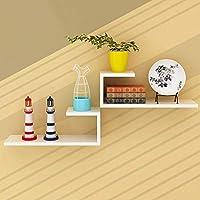 HLL ブックケース、本棚の木製のパネル素材の壁掛けリビングルームの壁棚モダンなミニマリストの装飾的なフレーム、9色,8