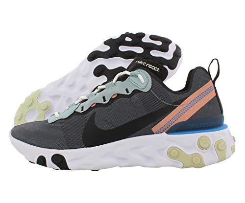 Nike React Element 55 Mens Running Trainers BQ6166 Sneakers Shoes (UK 3.5 US 4 EU 36, Ocean Cube Pink Quartz 300)