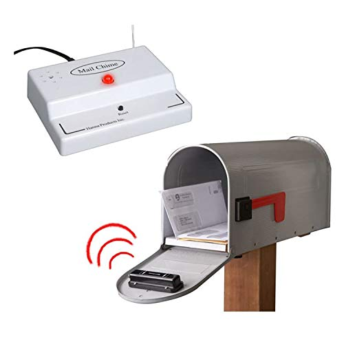 Mail Chime Mailbox Notification System – Mailbox Signal With Wireless Transmitter & Audible Arrival Alert Receiver With Bright LED Light