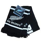 New Zealand All Blacks Rugby enfants classique Jacquard Écharpe [Noir]
