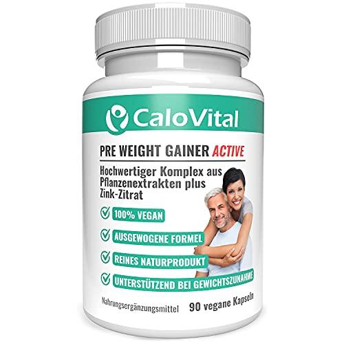 PRE WEIGHT GAINER zum Gewicht zunehmen | zur Gewichtszunahme vegan & hochdosiert | Kräuter-Komplex zum Anregen | Natürlicher Pre Weight Gainer | Gewichtsaufbau mit CaloVital