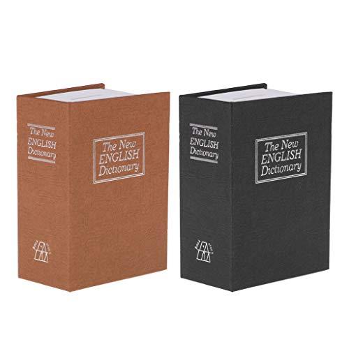Amuzocity Caja Fuerte para Diccionario Portátil 2x Secret Stamp - Café +