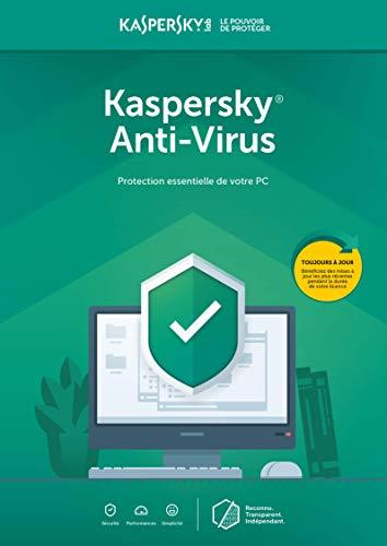 Kaspersky Anti-Virus 2020 | 1 Appareil | 1 An | PC | Code d'activation – envoi par email