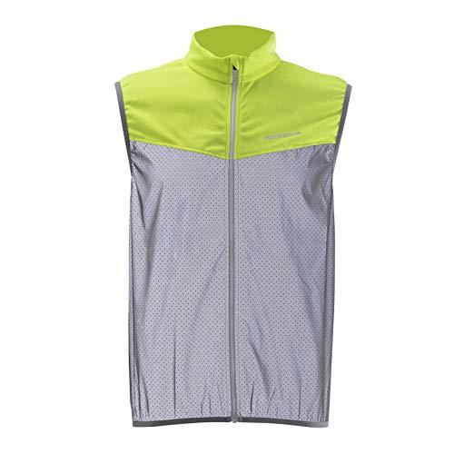 ROCKBROS Reflektierende Fahrradweste Warnschutz Sportweste Atmungsaktiv Weste für Outdoor-Sport wie Radfahren Angeln Laufen Herren/ Damen XS-2XL