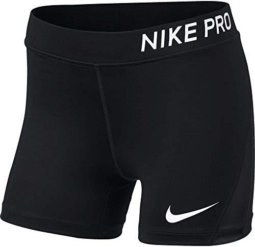Nike Mädchen Pro-Shorts, Black/White, M