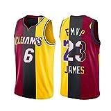 XXOO James Jersey Little Emperor, Laker Heat Cavaliers #6#23 City Edition Swingman bordado uniforme, transpirable Tops James-L (75 ~ 85 kg)