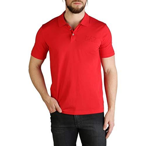 Emporio Armani T-shirt Polo Uomo 8npf01 Racing Red (L)