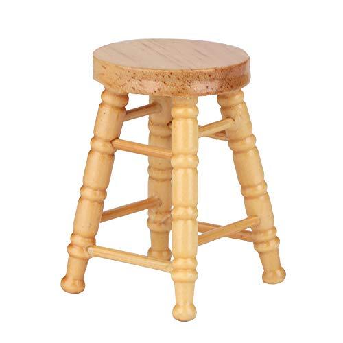 Mini muebles Silla en miniatura Mini silla para muñecas Silla en miniatura de madera para casa de muñecas