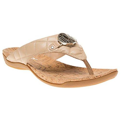 DKNY Donna Karan NY Women's Bianca Quilted Buff Flip Flop Sandals Shoes Sz: 7