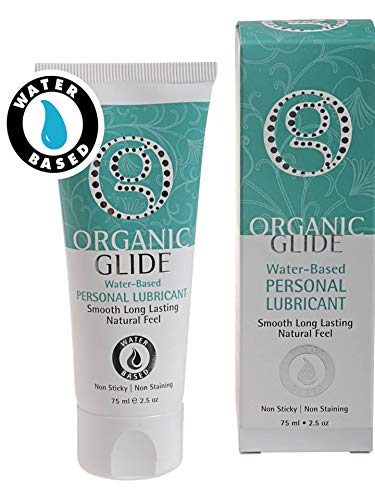 Organic Glide Water-Based Personal Lubricant for Him & Her Free of Parabens, Silicone. Natural Glycerin Only [Beware! This is NOT The Oil-Based Version]