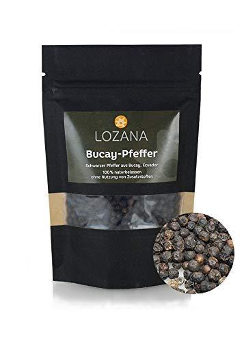 Schwarzer Bucay-Pfeffer ( 70 g ) Gourmet-Pfeffer ganze Pfefferkörner für Mörser und Mühle…