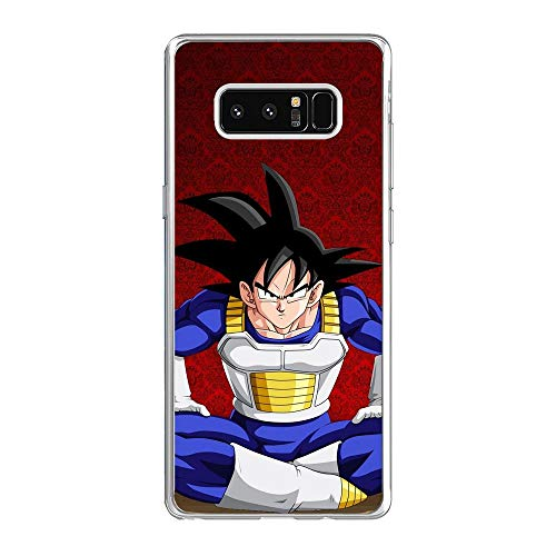 SHUAIJA Thin Clear Coque Transparent Soft Slim TPU Crystal Case Cover For Samsung Galaxy Note 8-Dragon-Ball Z Super-Goku 8