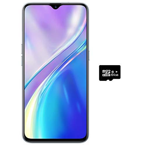Realme XT (128GB, 8GB RAM) 6.4' AMOLED, 64MP Quad Camera, Snapdragon 712, Dual SIM GSM Unlocked, US + Global 4G LTE International Model - RMX1921 (Pearl White, 128GB + 64GB SD + Case Bundle)